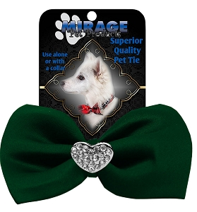 Crystal Heart Widget Pet Bowtie Green
